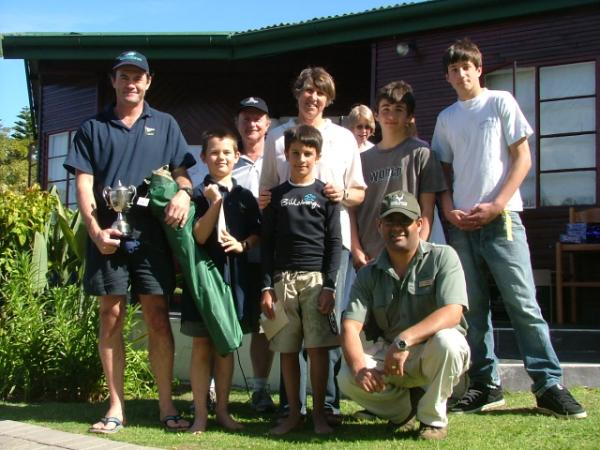 Winners in the Mirror class with SANParks rep Quinton Vaughan